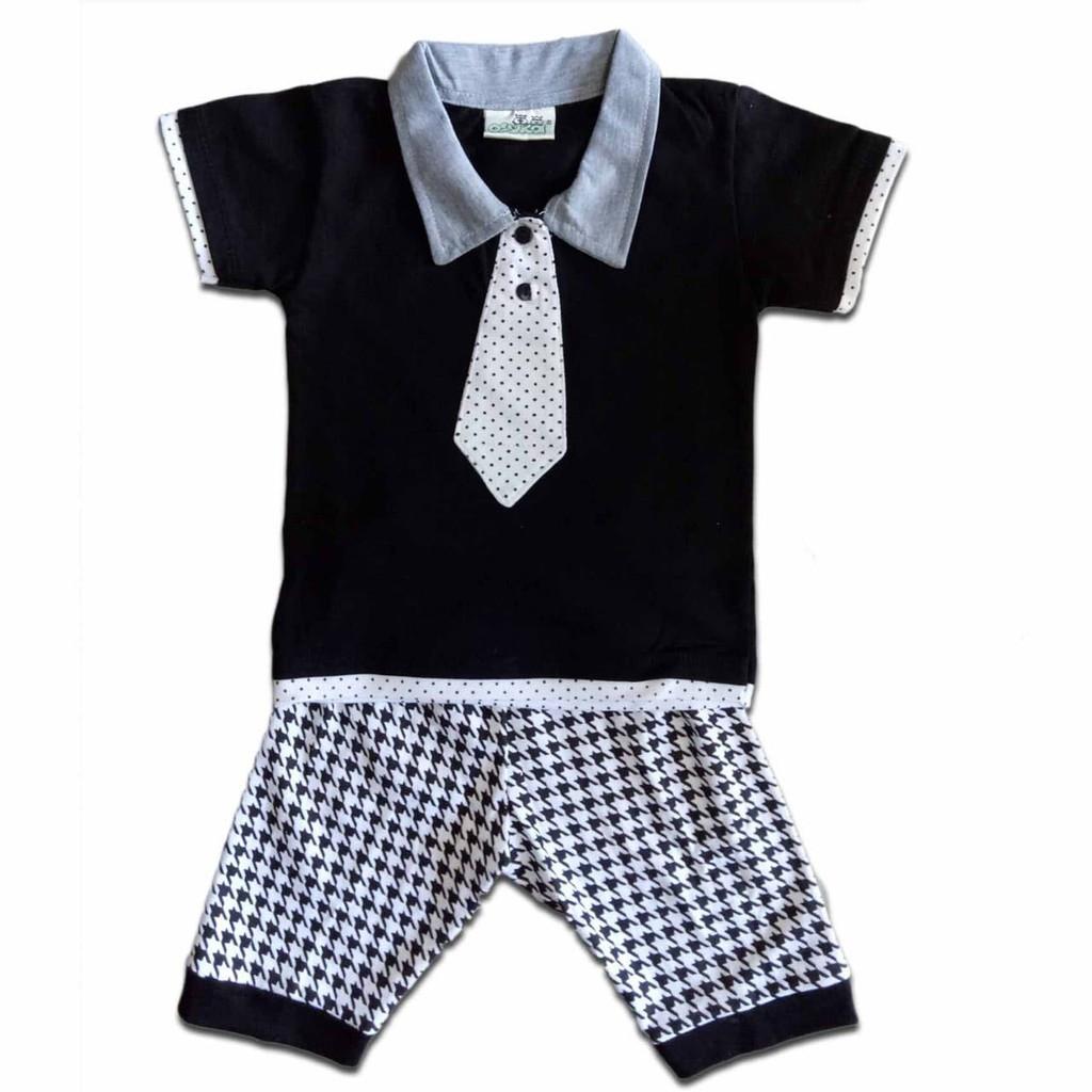 Setelan Bayi   Anak Lakilaki   Baju Pesta Anak Dasi Putih Polkadot e7f2629e61