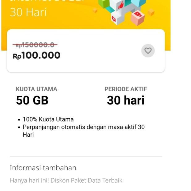 Paket data internet indosat im3 freedom internet 50gb