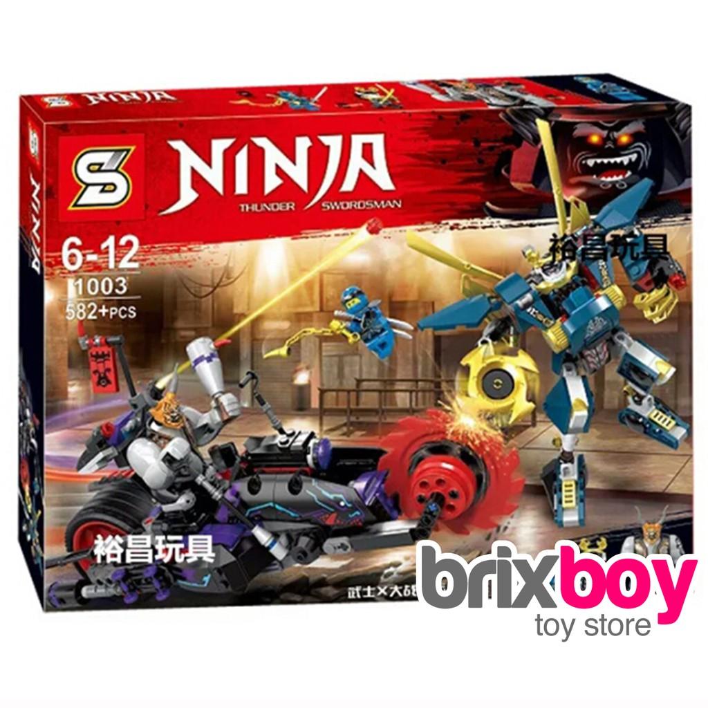 lego ninjago killow vs samurai x 70642 sy1003 582pcs