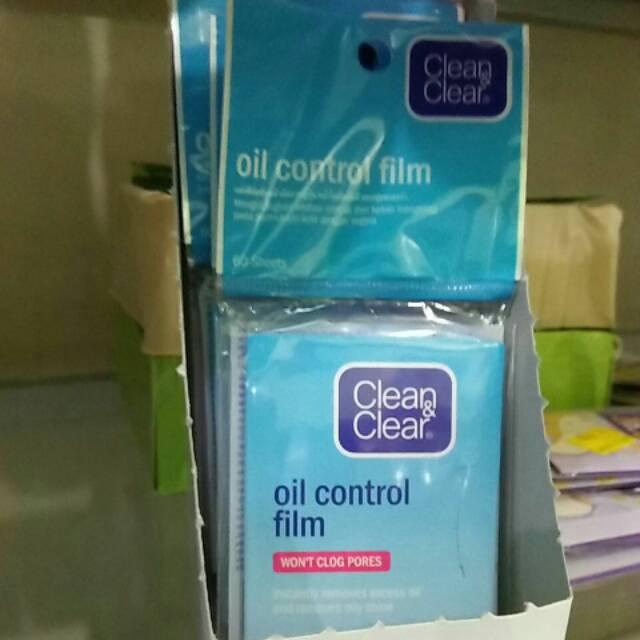 Clean Clear Oil Control Film Pink Kertas Penyerap Minyak Wajah Isi