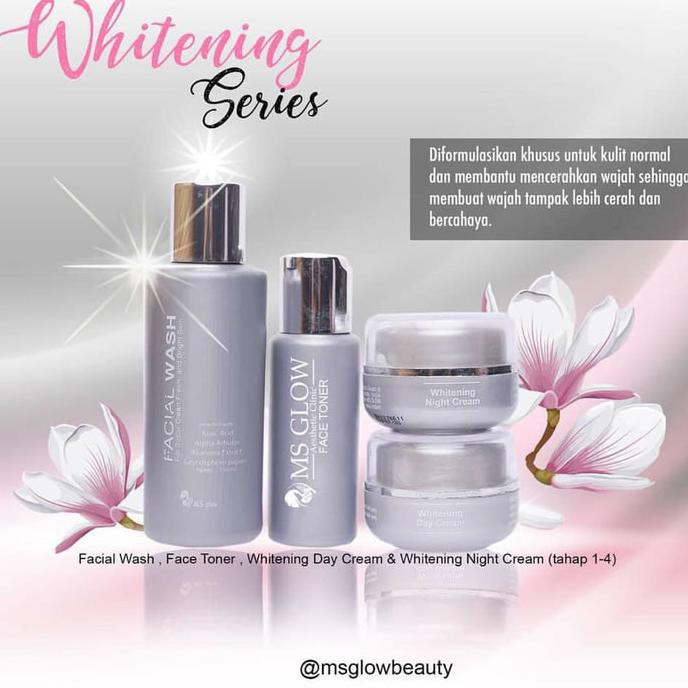 Perawatan Wajah Whitening Cream Ms Glow Brightening Series 4In1 / Paket Normal Terbaru | Shopee Indonesia