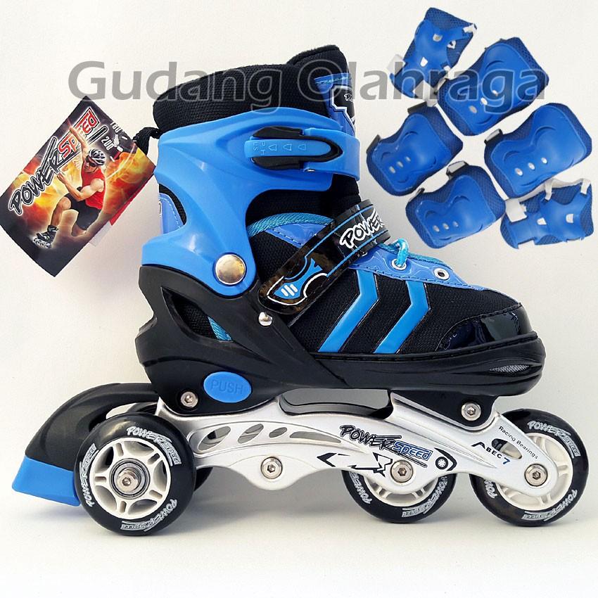 Sepatu Roda BAN KARET Anak dan Dewasa   Inline Skate PU Wheels ... ade2402d09