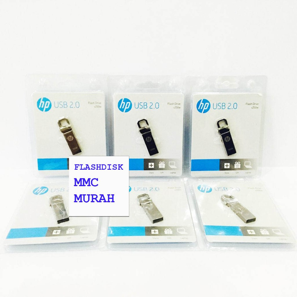 Flashdisk Hp V250w Bahan Metal 4gb 8gb 16gb 32gb Shopee Indonesia Flasdisk