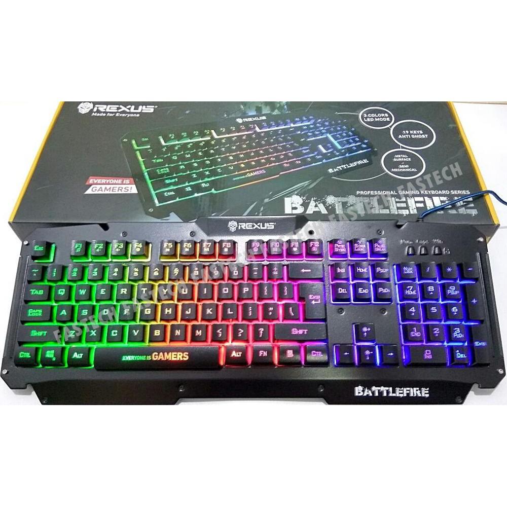 Harga Dan Spesifikasi Rexus K9tkl Keyboard Gaming K9 Tkl Fortress Rgb K9rgb Battlefire Led With Audio Mode Shopee Indonesia