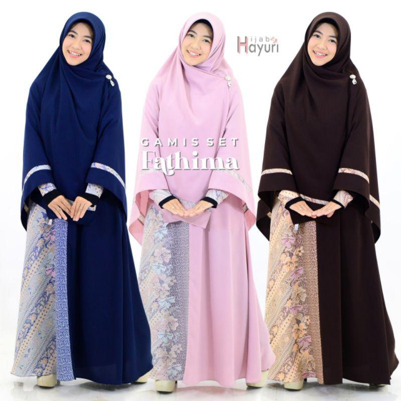 Gamis Set Fathima By Hijab Hayuri Shopee Indonesia