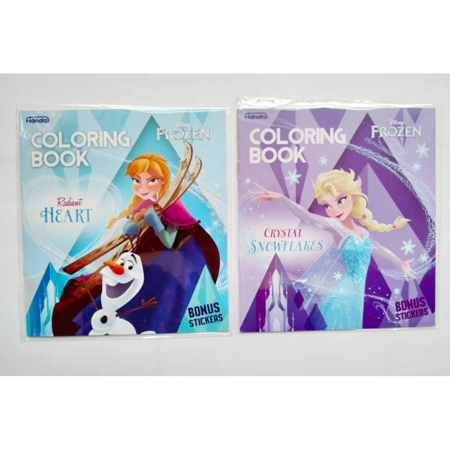 Coloring Book Disney Frozen Adinata Small Buku Mewarnai Elsa Anna