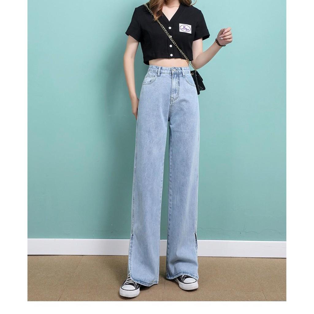 yeonin.id - Celana Panjang High Waist Korean Straight Jeans Kulot Jeans  Wanita Kekinian x17 | Shopee Indonesia