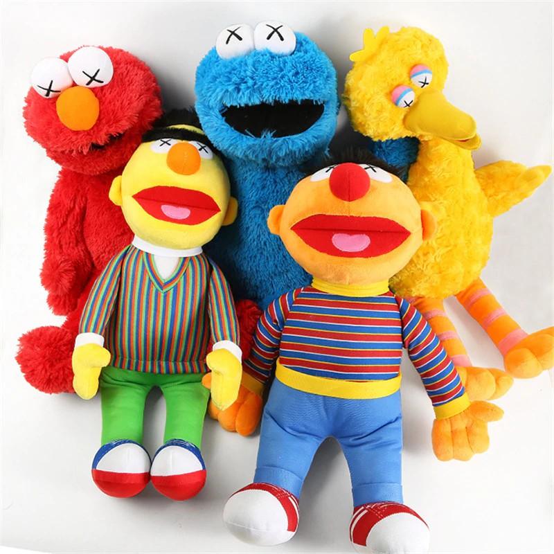 Baby Toys Sesame Street Plush Toys Cartoon Elmo Big Bird Cookie Monster Bert Ernie Figure Cosplay