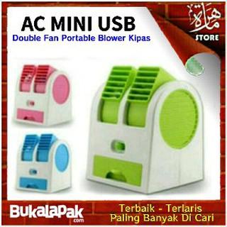 KiozOrenz Mini Fan AC Portable Double Blower Ac Mini Portable 2 Pintu Pendingin Kipas AC Mini 500g | Shopee Indonesia