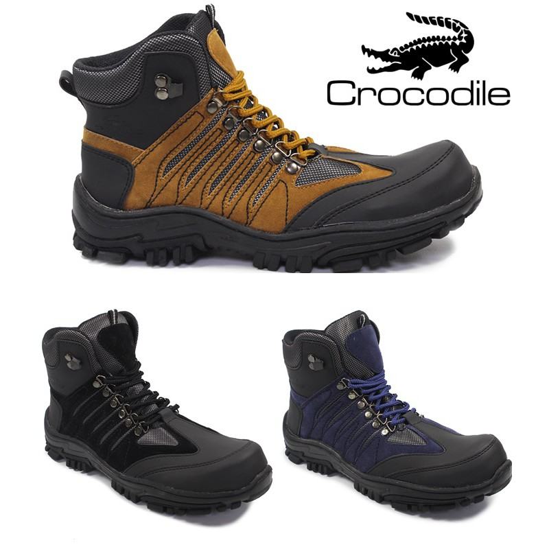 sepatu boots safety pria crocodile wolverine ujungbesi work tracking hiking  bikers touring outdoor  5a605ce036