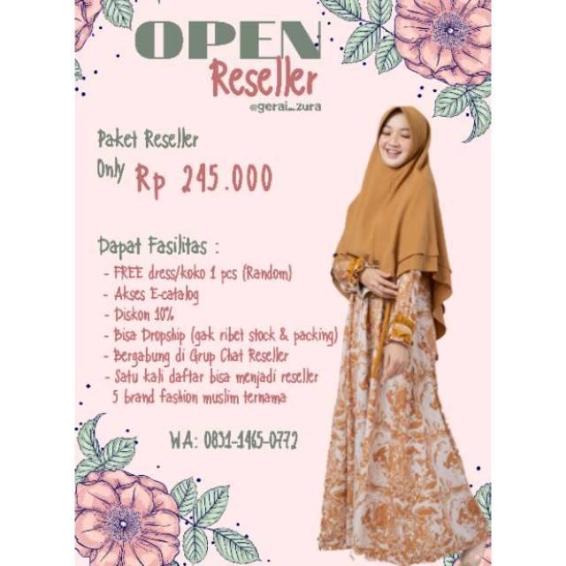 Paket Promo Join Reseller Free 1pc Dress Koko Khimar Random Daftar Reseller Shieraki Silmee Shopee Indonesia
