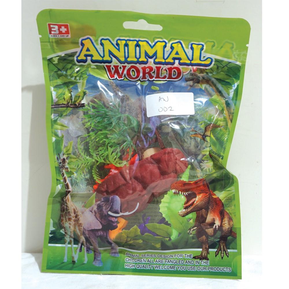Mainan Dinosaurus Kecil Set Animal World Aw 002 Shopee Indonesia