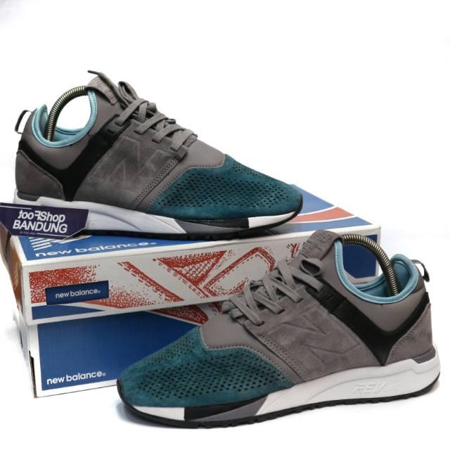 New Balance 247 Two Tone Luxe Suede Grey Blue Green 40 - 45 Premium BNIB (Free tas sepatul)