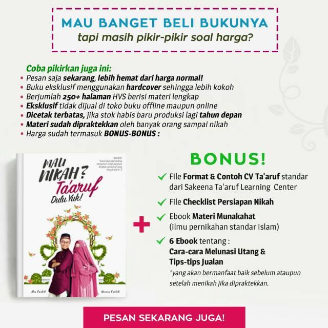 Buku Mau Nikah Taaruf Yuk Monde Ariezta Shopee Indonesia