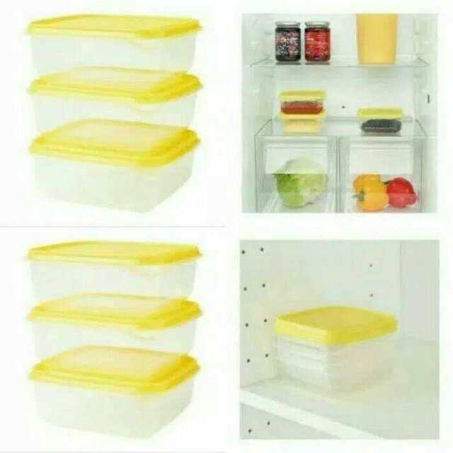 Ikea Food Container 0 6l Yellow Kotak Penyimpanan Makanan Warna
