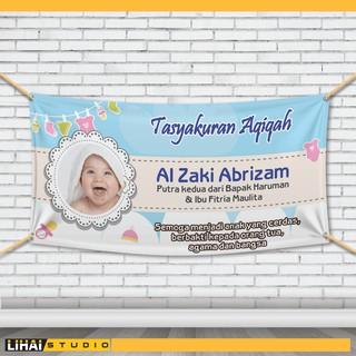 Backdrop Background Banner Spanduk Tasyakuran Aqiqah | 005 ...