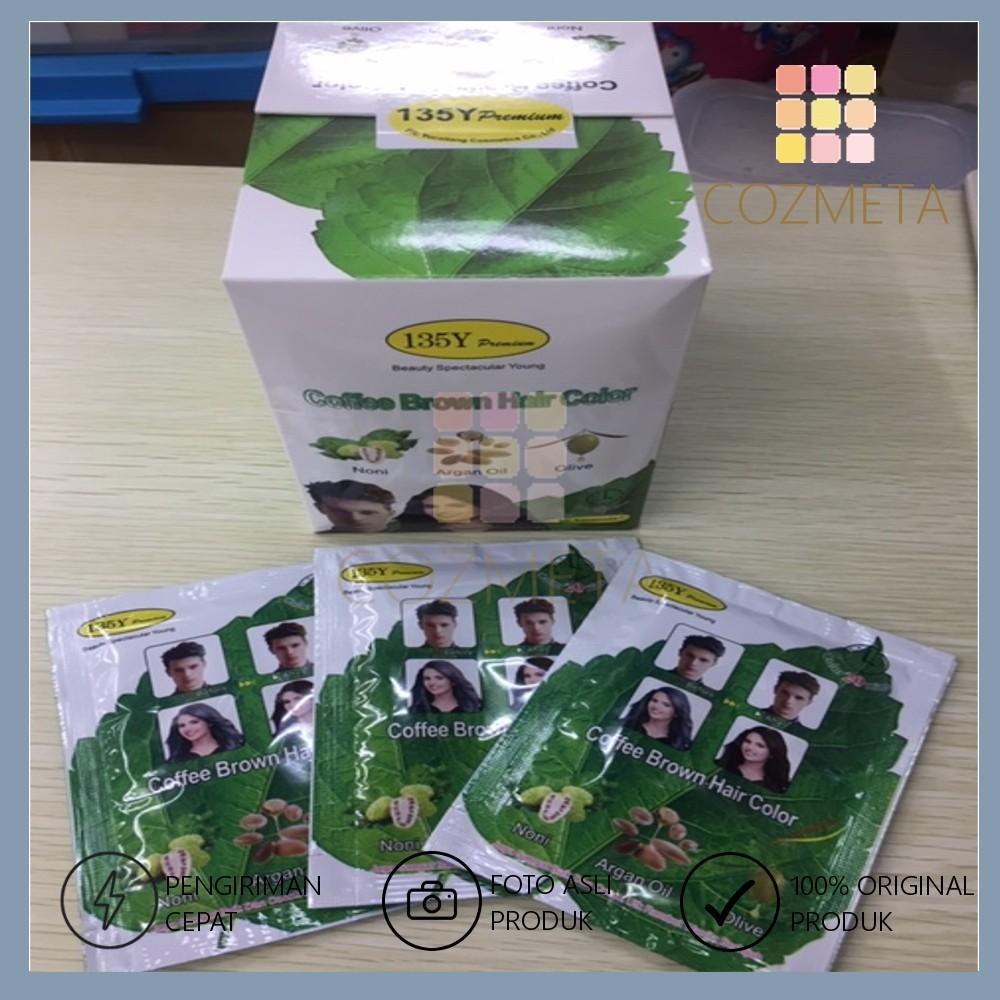 BSY Premium Black Coffee Brown Hair Color Shampoo Sampo Pewarna Rambut Sachet-1