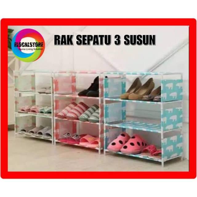 (2KG) SHENAR NEW RAK SEPATU MOTIF BARU 10TINGKAT 9 SUSUN MERK SHENAR   Shopee Indonesia