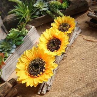 bunga matahari, kepala bunga simulasi, dekorasi pernikahan