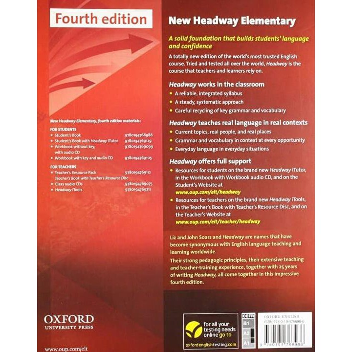 headway book edition elementary new cd students fourth