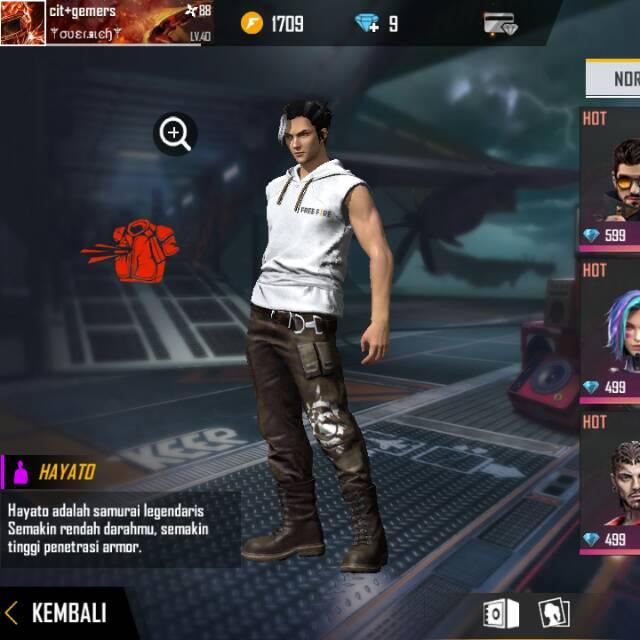 Karakter Ff Hayato Shopee Indonesia