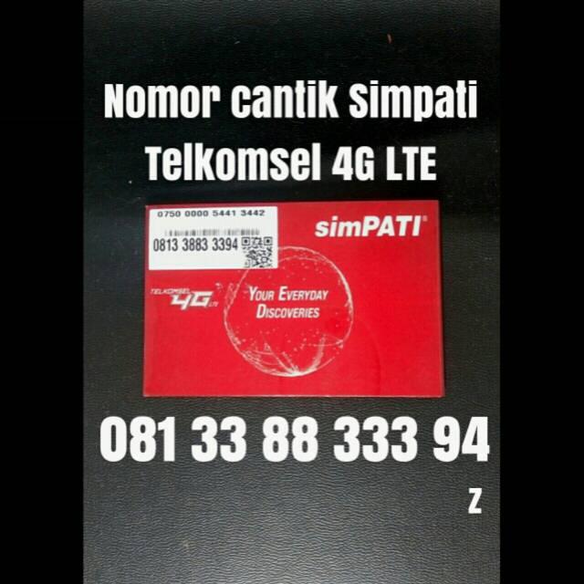 nomor cantik simpati telkomsel 4G LTE nomer kartu perdana 0539   Shopee Indonesia