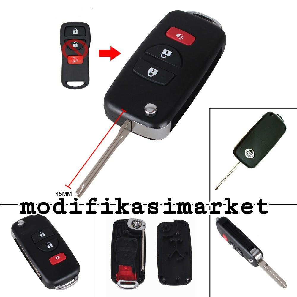 Casing Kunci Lipat Flip Key Toyota Avanza Veloz Etios 3tombol Alarm Mobil Model Mercy Shopee Indonesia