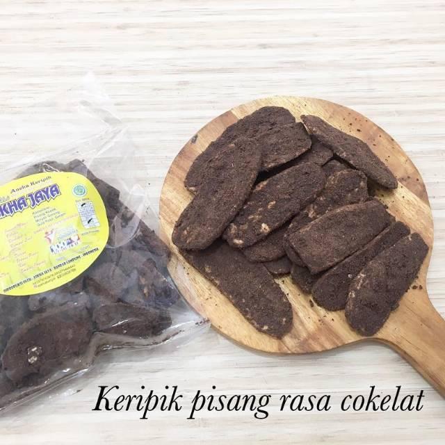 Gambar Keripik Pisang Coklat Khas Lampung Keripik Pisang Rasa Cokelat Coklat Keripik Askha Jaya Keripik