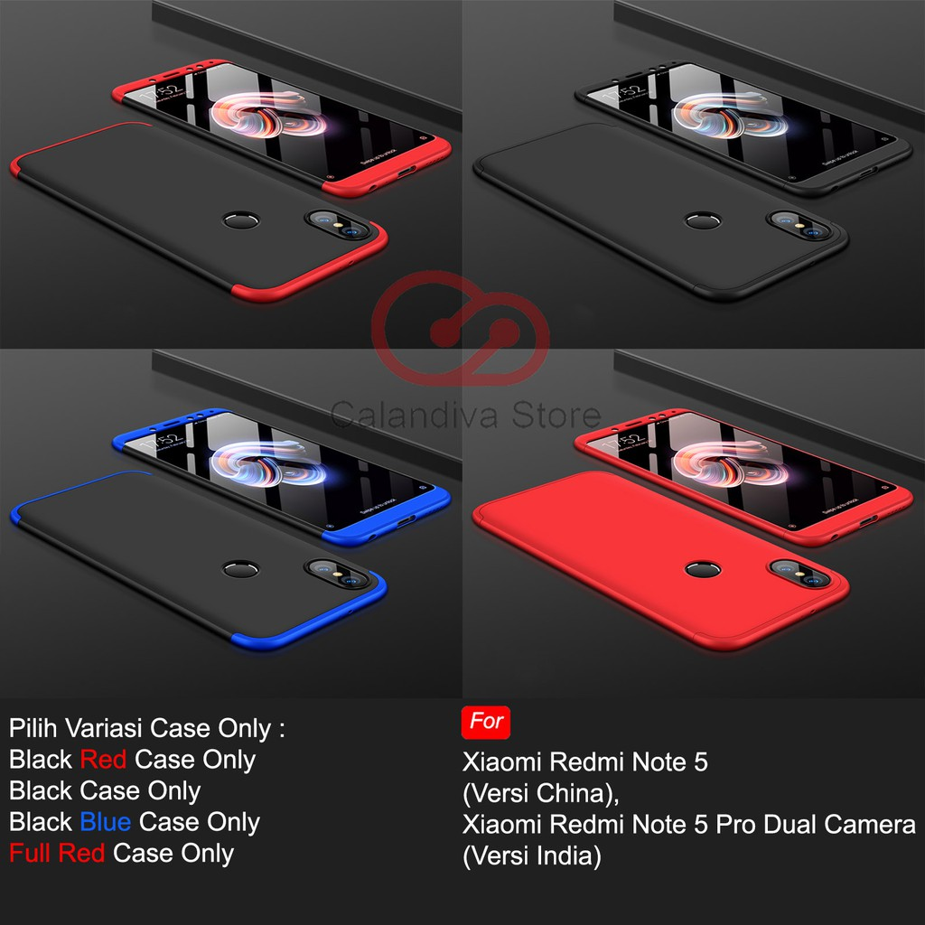 Calandiva Hard Case Xiaomi Redmi Note 5 Pro AI Dual Camera Casing Premium Front Back 360 Protection | Shopee Indonesia