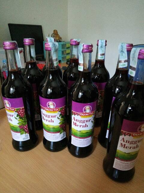 620 Ml Anggur Merah Cap Orang Tua Botol Besar