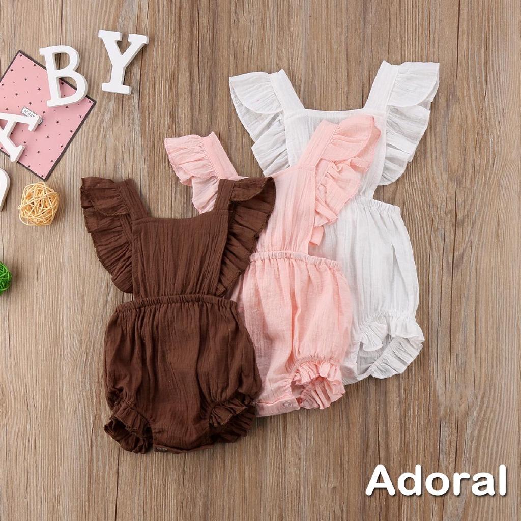 Newborn Baby Girls Sleeveless Romper Jumpsuit Bodysuit Clothes Outfits Summer