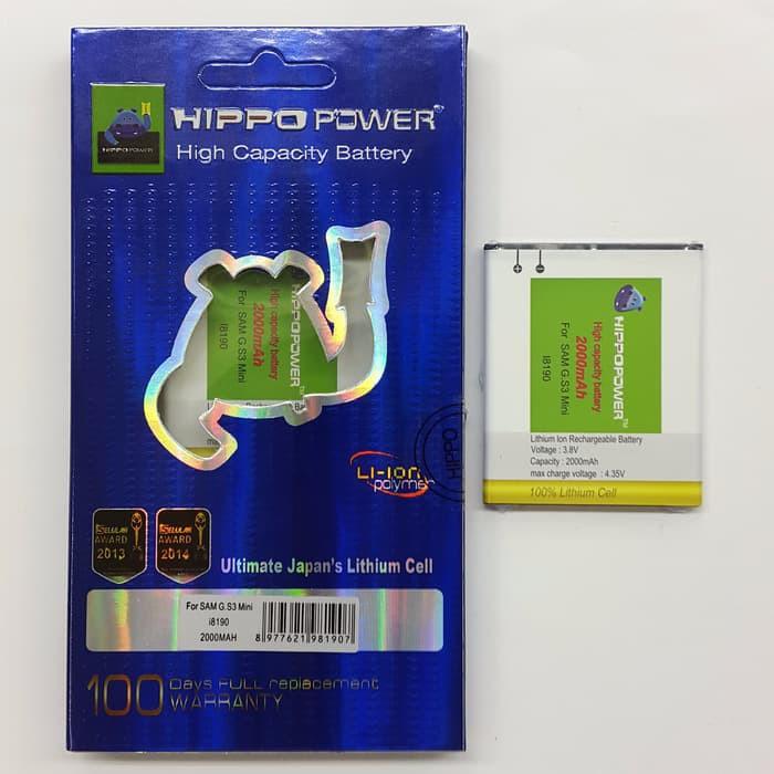 Hippo baterai Samsung Galaxy S3Mini 2000mAh / garansi 6 bulan