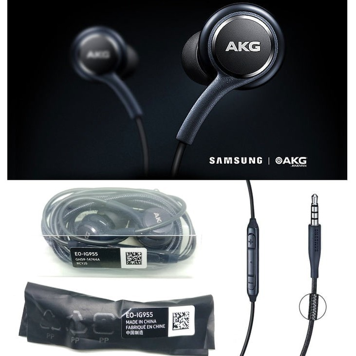 Headset Samsung Galaxy S8 S8+ AKG ORIGINAL 100% SEIN Indonesia | Shopee Indonesia