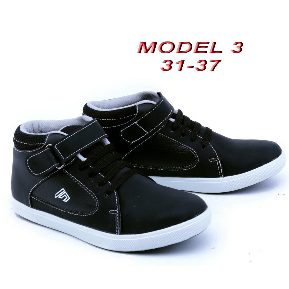 Sepatu anak sekolah TK SD SMP NB warna hitam putih tali murah ori ... c1558a170f