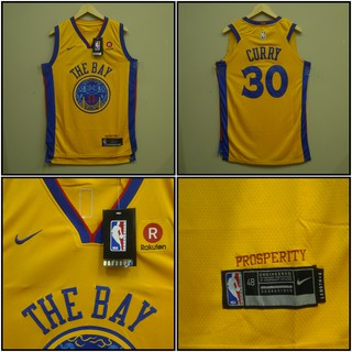 the best attitude 53d8b 391a2 JERSEY BASKET NBA GOLDEN STATE WARRIORS THE BAY #30 STEPHEN CURRY KUNING