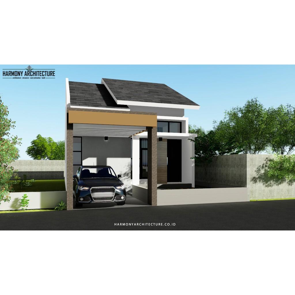 Desain Rumah Minimalis Modern 1 Lantai Lahan 7 X 18 Shopee Indonesia