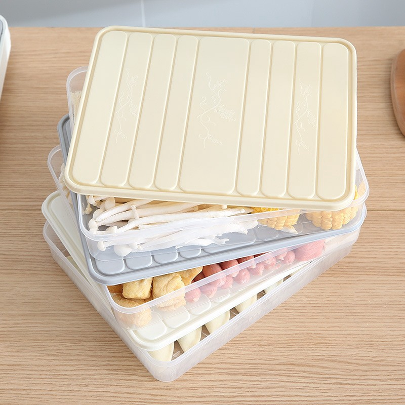 Cod Refrigerator Food Storage Container With Lid Sealed Crisper Food Fresh Keeping Egg Fish Storage Shopee Indonesia