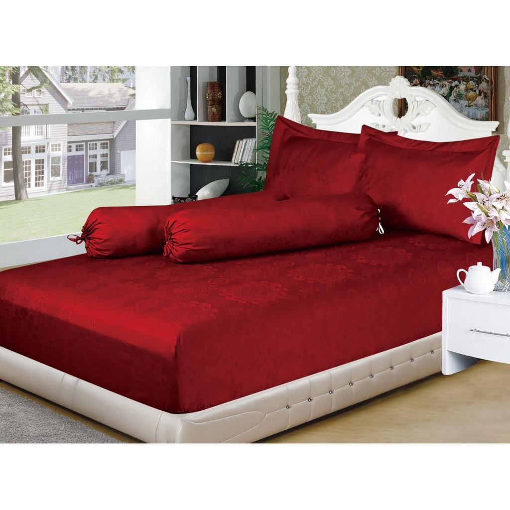 Ww Sprei Emily Deep Red 180 King Size No 1 180x200 100 Full Cotton Kintakun Golden Leaf X 200 B4 Raspberry Organik Adem Lembut Shopee Indonesia
