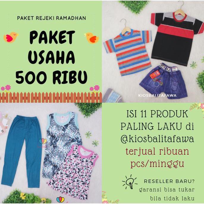 (Modal Mulai 10 Ribu) Paket Jualan Baju Anak Laris Manis di Bulan Puasa    Bisa Tukar bila Tidak Laku  8e28e76526