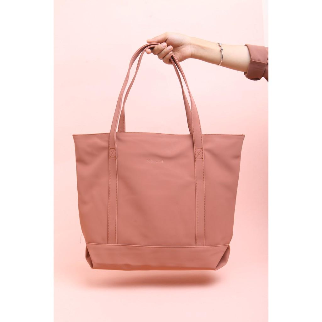 Tas Wanita Tote Bag Audrey Choco Brown Merche  ab18facfa2