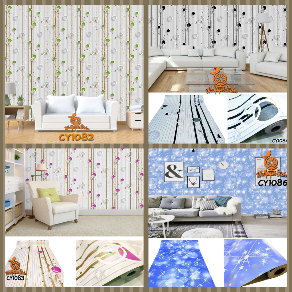 [COD] CY1082 Wallpaper Stiker Stiker Dinding Wallpaper Wallpaper Sticker Wallpaper Dinding