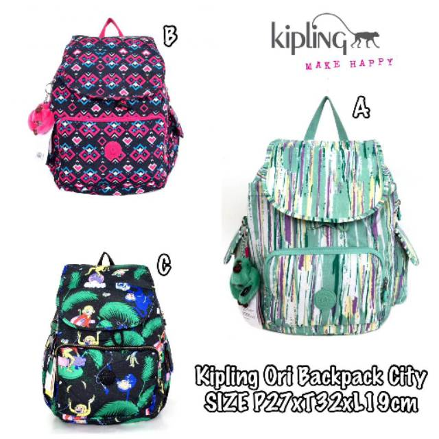 Backpack kipling ori challenger / tas ransel kipling original | Shopee Indonesia