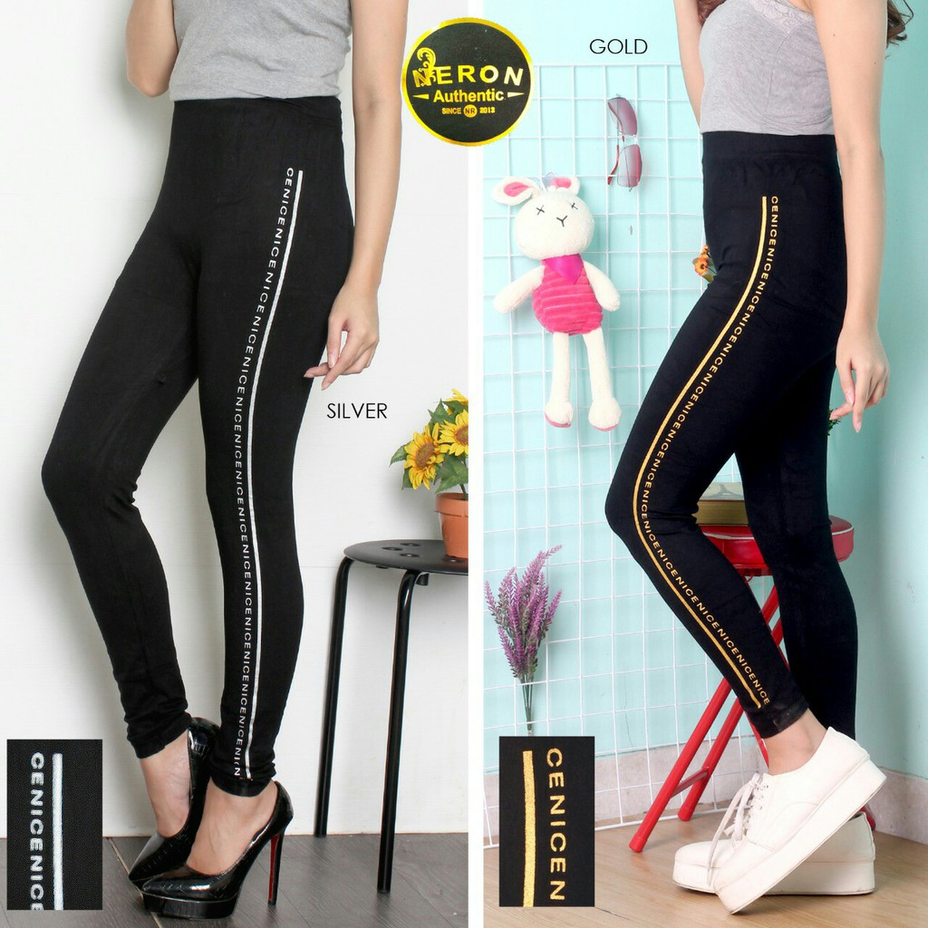 Hokyfashion Celana Legging List Nice Waist 62 140cm Lenght 92cm Shopee Indonesia