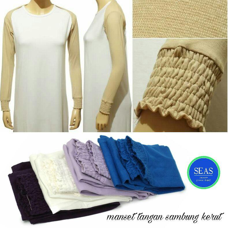 Manset tangan sambung kerut, manset bolero kerut kaos rayon | Shopee Indonesia