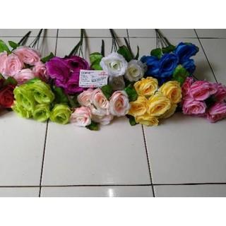 Kode Produk 035 Bunga Mawar Hias Palsu Kuntum 6 Merah Putih Biru Hijau Ungu Pink Kuning Salem Peac Shopee Indonesia