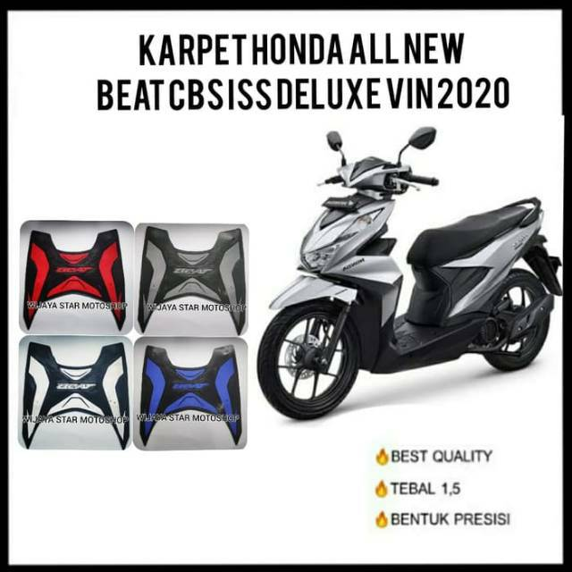 Karpet Honda All New Beat Cbs Iss Deluxe Vin 2020 Shopee Indonesia