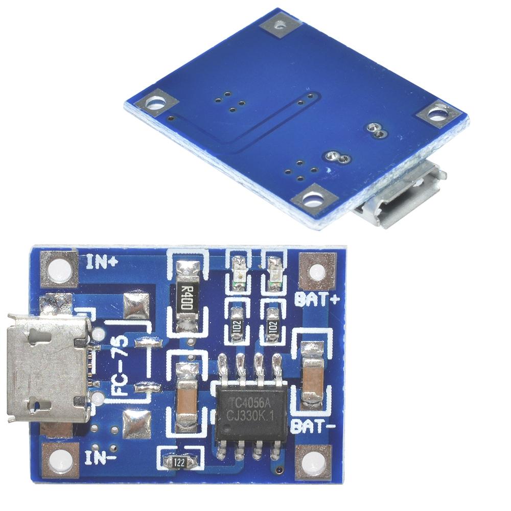 2 PC Micro USB TP4056 1A Lithium LiPo Baterai Pengisian Dewan Charger Modul Lade