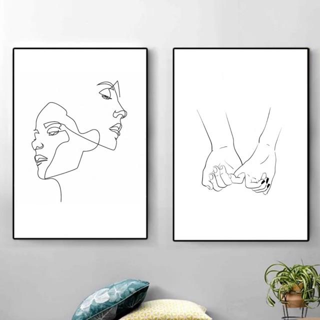 Poster Frame Sketsa Garis Aesthetic Hiasan Dinding Wall Decor Shopee Indonesia