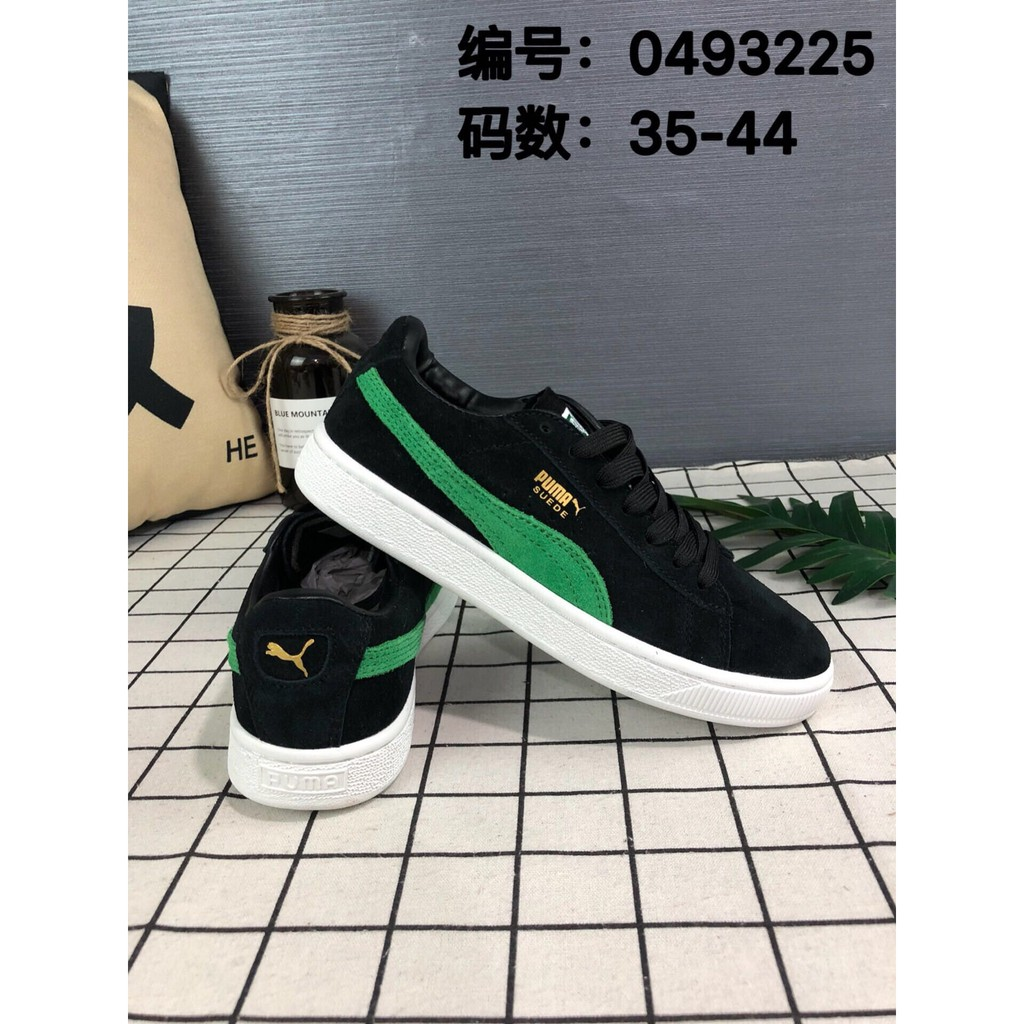 Sepatu Sneakers Casual Pria Model Puma Suede Classic x xlarge Warna Hitam  Hijau  8483ab1b06