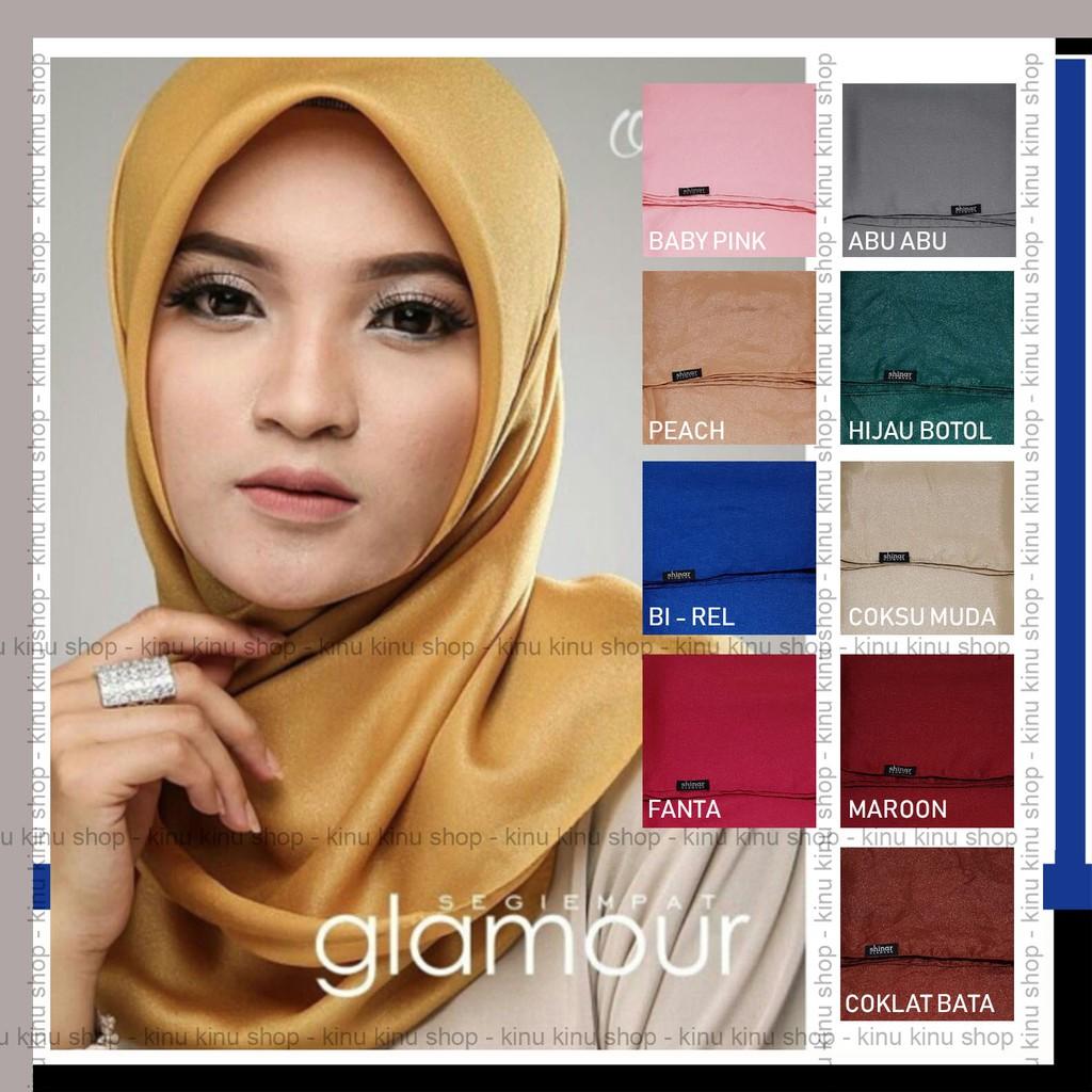 Jilbab Segiempat Shinar Glamour Katun Shimmer Ansania Square Hijab Shopee Indonesia
